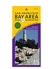 Premium Map Features:  * Detailed coverage from the Golden Gate Bridge south to Carmel, including including San Francisco, Oakland, Berkeley, San Jose & Santa Cruz & Golden Gate National Recreation Area. * City enlargements of San Fra...
