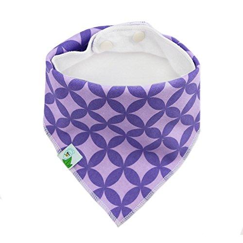 BabyDew Bandana Bibs, 4 Pack Cute Bib with Snaps - Best for Babies Drooling, Teething and Feeding . Soft Cotton, Bamboo & Waterproof Fleece. Perfect Baby Shower Gift for Boys & Girls (Bonus eBook)