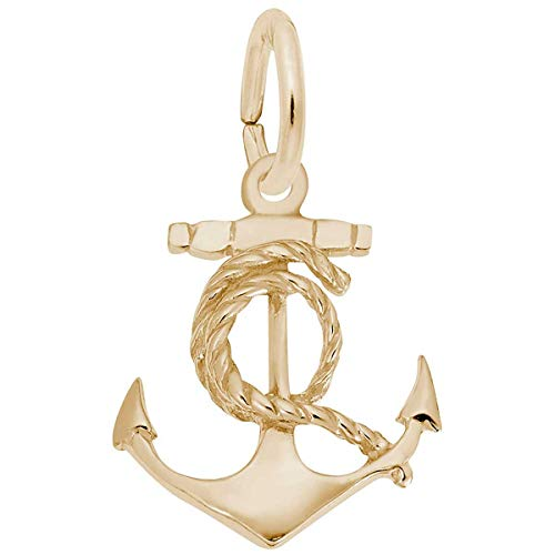Rembrandt Charms Anchor Charm, Gold Plated - Charm Anchor Plated Gold Rembrandt