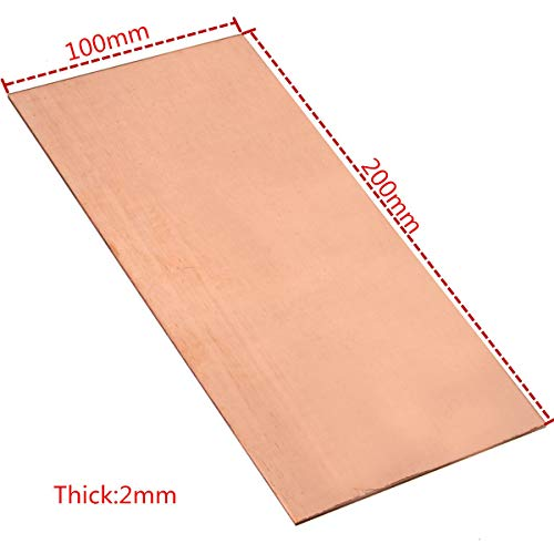 1 Piece 99.9/% Pure Copper Cu Metal Sheet Plate 1.5mm*100mm*100mm High Purity