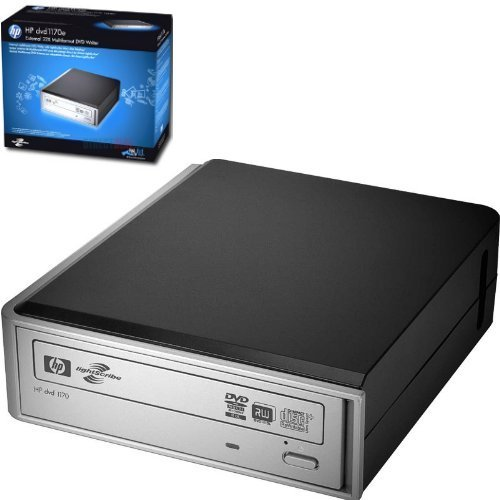 HP DVD 1170e - External 22X Multiformat DVD Writer with LightScribe direct disc labeling