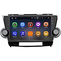 SYGAV Android 7.1.1 Nougat Car Stereo Video Player for Toyota Highlander 2009-2012 Quad Core 10.2 Inch In-dash 2 Din 1024x600 GPS Nav Sat with Wifi Bluetooth Radio