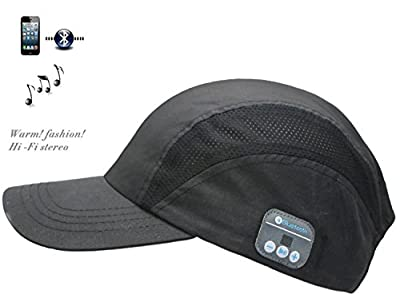 Wireless Bluetooth Baseball Cap Hands-free Headphone Headset Phone Call Answer MP3 Player Adjustable Cap with Earphones Stereo Speakers & Mic Bluetooth Cell Phone Headset