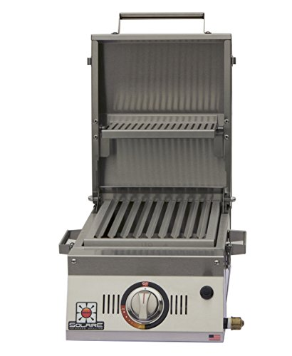 Solaire SOL-AA12A-LP Single Burner Tabletop Infrared Propane Gas Grill, Stainless Steel Solaire