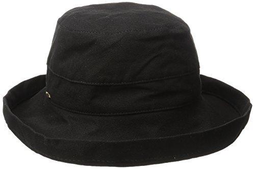 Scala Women's Medium Brim Cotton Hat, Black, One Size -