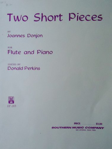 Two Short Pieces for Flute and Piano (Shepherd's Lament & Minuet) #St-285