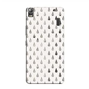 Cover It Up - Raindrops Silver Pastel A7000 / K3 Note Hard Case