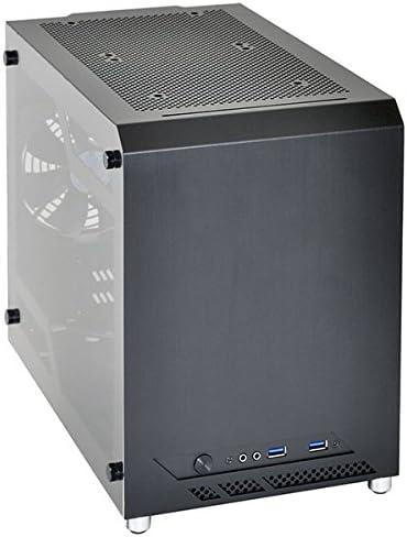 Lian Li PC-Q10 Mini-Tower Negro Carcasa de Ordenador - Caja de Ordenador (Mini-Tower, PC, Aluminio, Mini-ITX, Negro, Hogar/Oficina): Amazon.es: Informática