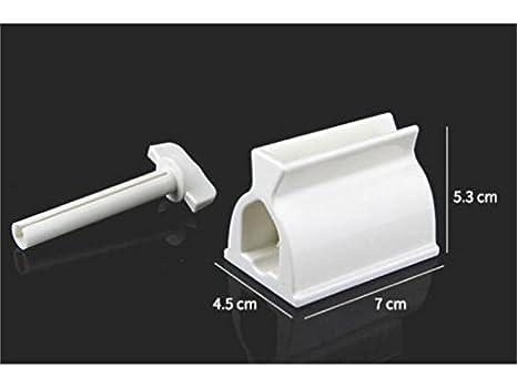 HOUHOUNNPO Suministros Diarios Apretón de Limpiador del exprimidor de Tubo de Pasta de Dientes (Blanco