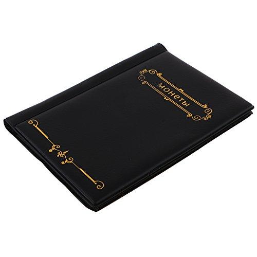 MagiDeal Billete de Banco de Álbum 120-bolsillos de Almacenamiento Colección de Libros para Piezas de Monedas de Recuerdo -...