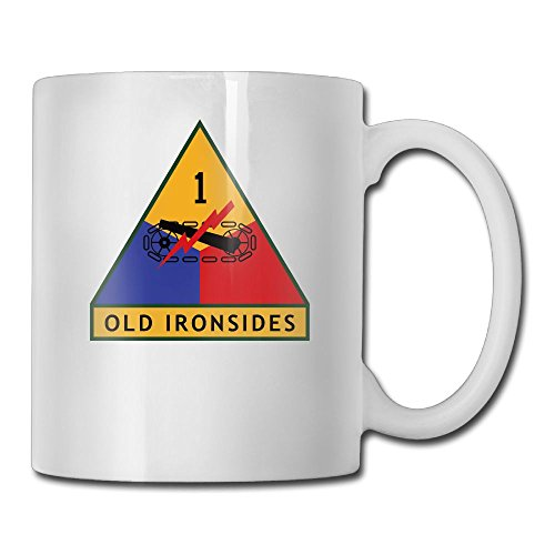 1st US Armored Division Old Ironsides Fashion Coffee Cup Porcelain Mugs
