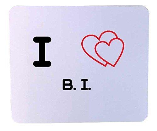 Cojín de ratón personalizado: I corazón B, H, (iniciales ...