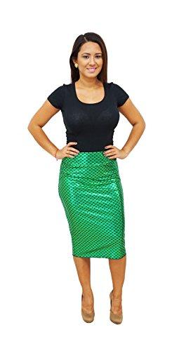 DBG Women's Green Mermaid Pencil Skirt-Small
