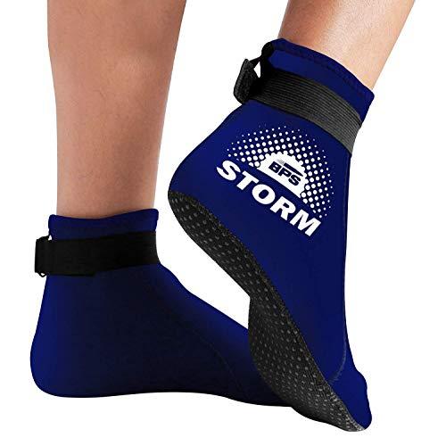 BPS Neoprene Socks (LC) - Improved Sole Grip - Blue/White - M