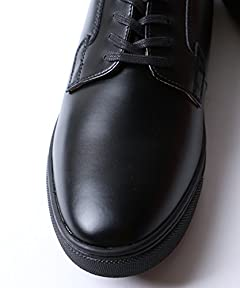 Plain Toe Blucher Sneaker 17056200120: Black