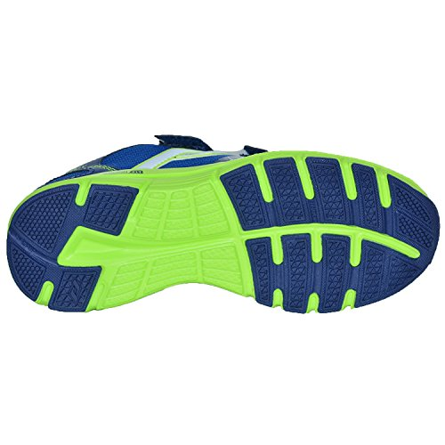 PRO TOUCH Run Chaussures de oz Pro V Jr Velcro–D. Bleu/vert citron