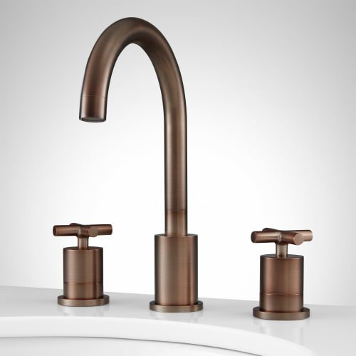 Signature Hardware 362798 Exira 1.2 GPM Widespread Bathroom Faucet - Drain Assembly Included from Signature Hardware