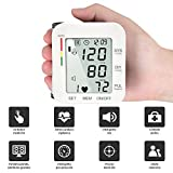 Digital Monitor de presión de muñeca, Máquinas automáticas de presión arterial digitales de medida para uso en el hogar, Función de Transmisión Automática de Voz Completa, Pantalla Grande de Alta Definición con Subtítulos Claros Diseño de Usuario Dual Certificado por CE y FDA