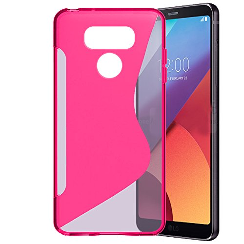 LG G6 Case, Anbel Premium Slim Fit Flexible TPU Gel Rubber Soft Skin Silicone Protective Case Cover with Stylus for LG G6 (Hotpink) -