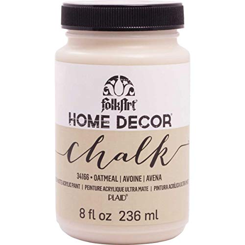 FolkArt 34166 Home Decor Chalk Furniture & Craft Paint in Assorted Colors, 8 Ounce, Oatmeal