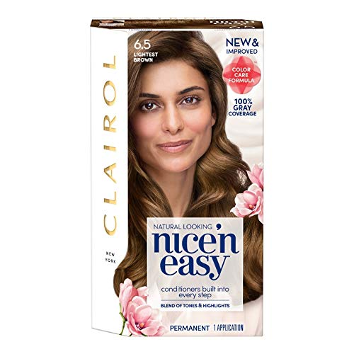 Clairol Nice 'n Easy Permanent Color [6.5] Lightest Brown 1 ea  (Pack of 4) by Clairol