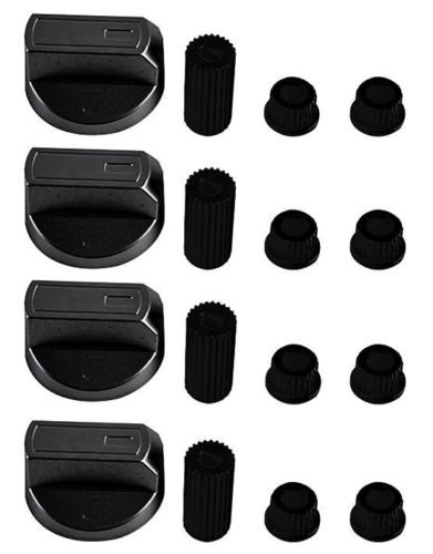 Pack of 4 KGASUPPLIES Electrolux Universal Black Control Knobs for Ovens Cookers and Hobs