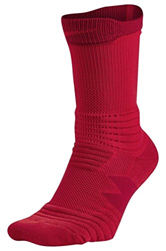 Nike Elite Versatility Crew Adult Basketball Athletic Training Socks (M 6-8, 657 University Red/Gym...
