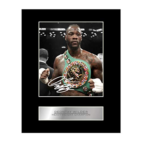Deontay Wilder Signed Mounted Photo Display Boxing Heavyweight Champion Autographed Gift Picture Print