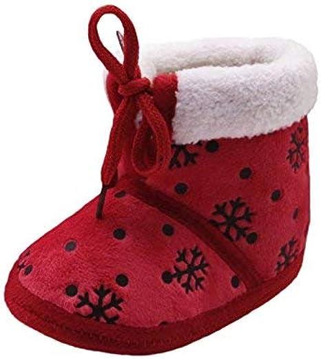 Fossen Kids Navidad Botas de Nieve Bebe Niña de Felpa, Zapatos ...