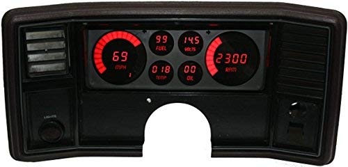 Intellitronix Corp. 1978-1988 Monte Carlo/El Camino LED Digital Dash Replacement Panel (Red) (Dash Camino El)