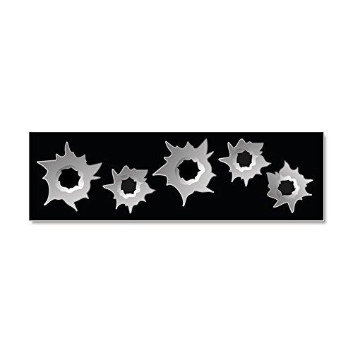 - CafePress - Bullet Holes - Car Magnet 10 x 3, Magnetic Bumper Sticker