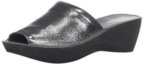 Pewter Peep Toe - Kenneth Cole REACTION Women's Fine Mule Platform Slide  Sandal, Pewter, 7.5 M US