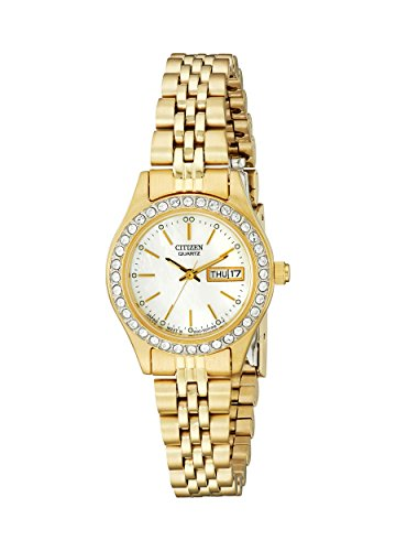 Citizen Women's Quartz Crystal Accented Watch with Date, EQ0532-55D