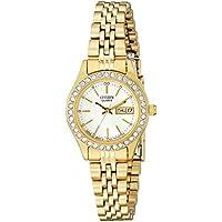 Citizen Women's Quartz Crystal Accented Watch with Date, EQ0532-55D