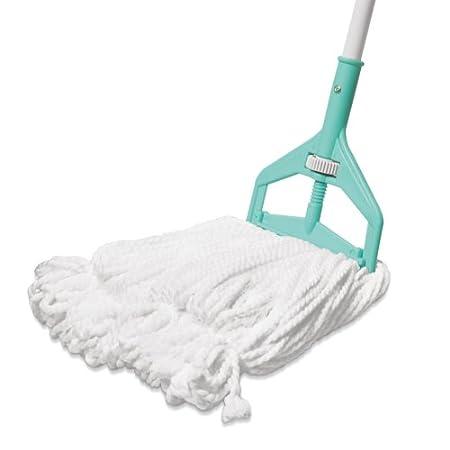 Spotzero Floor Cleaning Roll N Fit Looped Mop (Aqua Green)