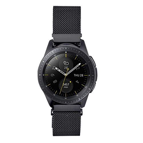 Sport Watch Steel Band - Koreda Compatible with Samsung Galaxy Watch (42mm)/Galaxy Watch Active Bands, 20mm Stainless Steel Mesh Loop Replacement Bracelet Strap for Galaxy Watch 42mm/Gear Sport/Ticwatch E Smartwatch