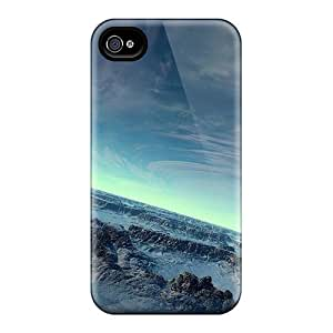 Durable Protector Case Cover With Green Horizon Scenery Hot Design For Iphone 4/4s