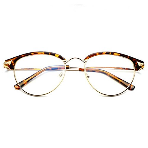 LOMOL Girls Retro Classic Personality Student Style Transparent Lens Frame - Difference The Between What Is And Protection Polarized Uv