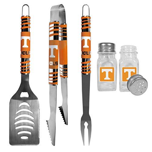 NCAA Tennessee Volunteers 3 pc Tailgater BBQ Set & Salt & Pepper Shakers