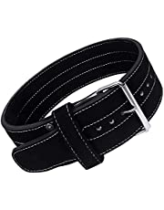 DEFY Single Prong Power Lifting Belt Heavy Duty Belt 10mm Men and Women IPF Weightlifting 4 Inches Wide Genuine Leather