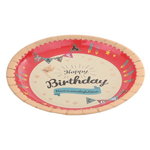 MonkeyJack 6 Pieces Sturdy And Durable Party Food Paper Plates For Birthday Party by MonkeyJack (Image #3)