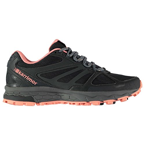 Shoes Running Charcoal Trail Women's Peach Karrimor qvSn8w