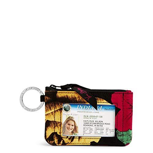 Chain Print Wallet - Vera Bradley womens Zip Id Case, Havana Rose, One size