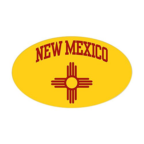 New Decorative Wall Stickers - CafePress New Mexico Oval Sticker Oval Bumper Sticker, Euro Oval Car Decal