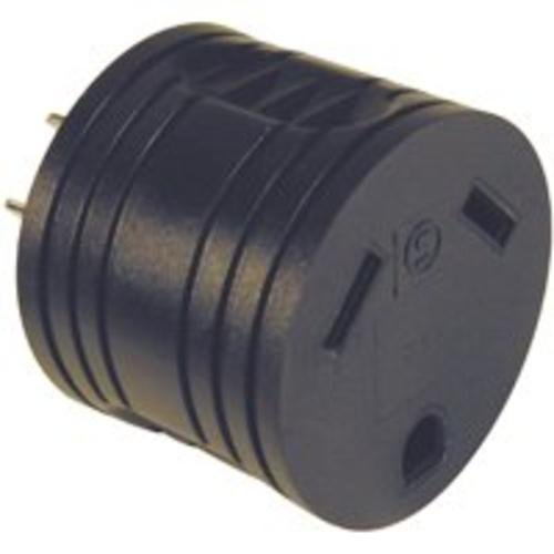 Adaptor Rv 30a Crd/15a Rec Blk by Power Zone