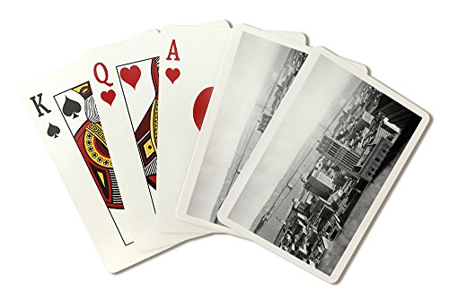 (San Francisco, CA Oakland Bay Bridge from Russ Bldg. Photograph (Playing Card Deck - 52 Card Poker Size with Jokers))
