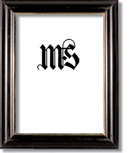 Imperial Frames 5 by 7-Inch/7 by 5-Inch Picture/Photo Frame, Round, Black Molding with Gold Leaf ()