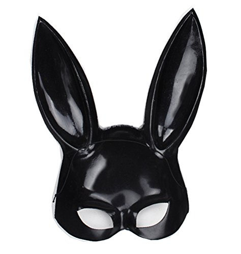 Black Rabbit Mask Costume (2017 Makeup Ball Rabbit Ear Mask - Bar Kt Mask (One size, black))