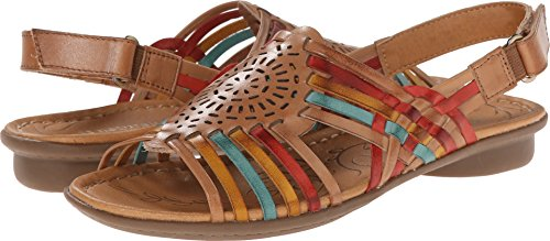 Naturalizer Women's Wendy Camelot/Red/Yellow/Turquoise Leather 6 W ()