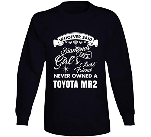 Toyota Mr2 Diamonds Girls Best Friend Enthusiast Car Lover Long Sleeve T Shirt L Black